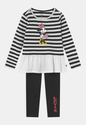 MICKEY MOUSE PEPLUM SET - Leggings - Trousers - black