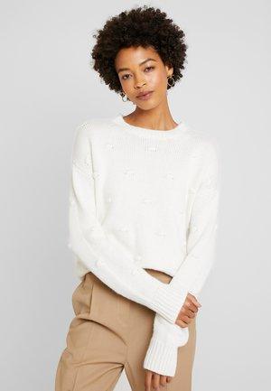 KNOTS - Stickad tröja - off white