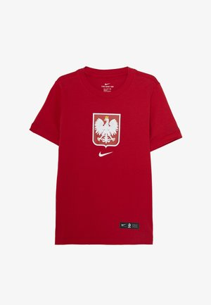 POLEN EVERGREEN CREST - National team wear - sport red