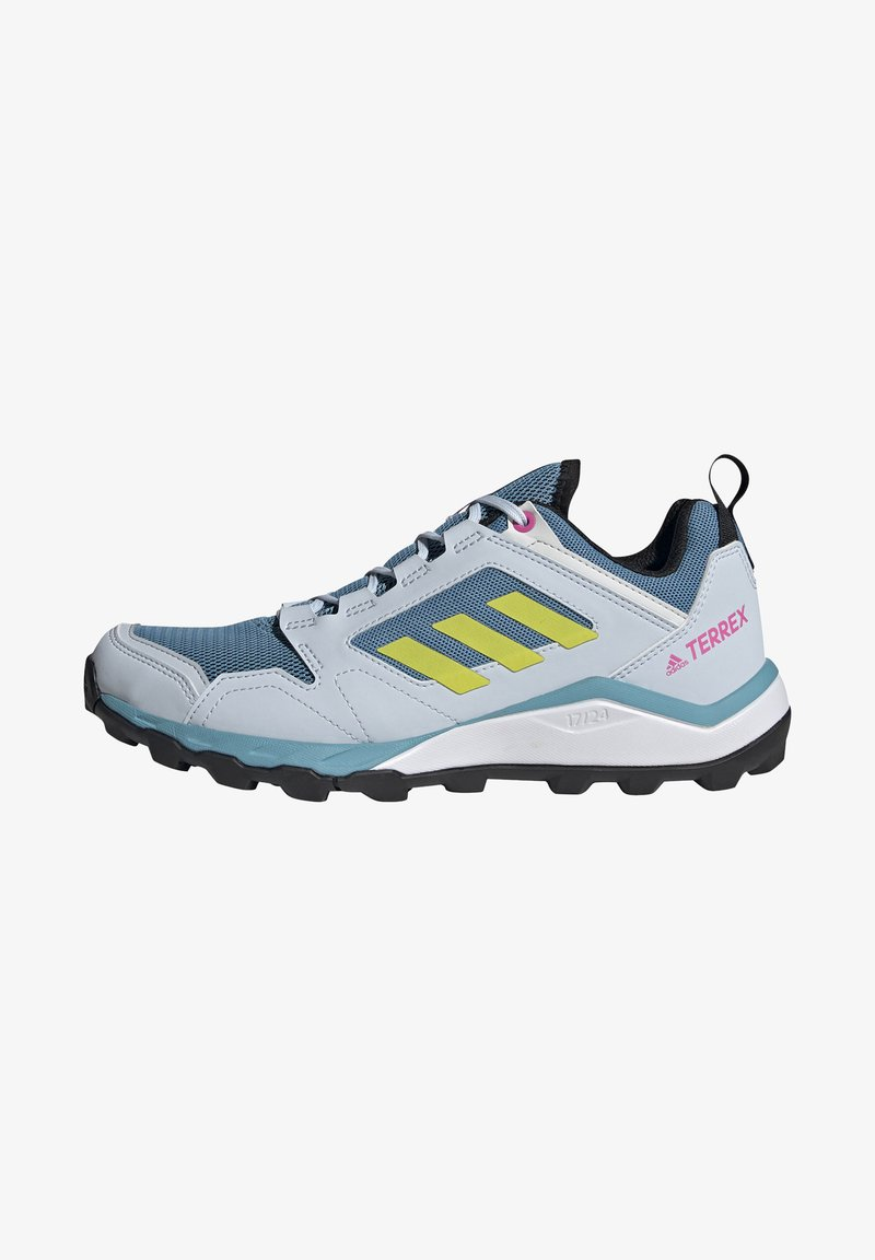 adidas Performance - TERREX AGRAVIC TR - Fjellsko - hazy blue/acid yellow/crystal white