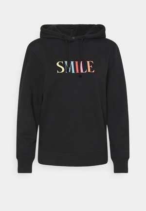 SMILE HOODY - Sweatshirt - black