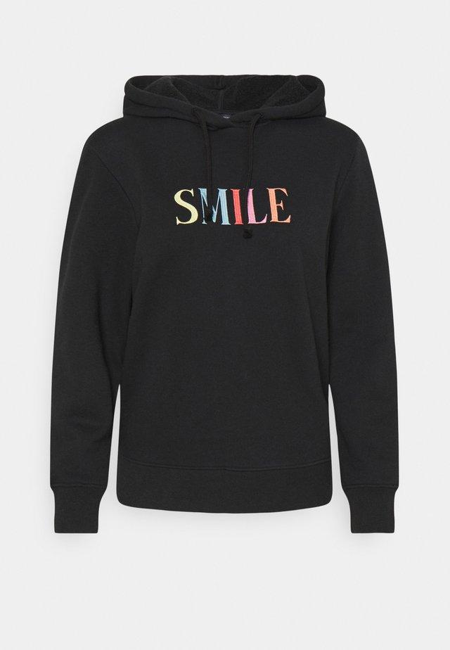 SMILE HOODY - Sweatshirt - black