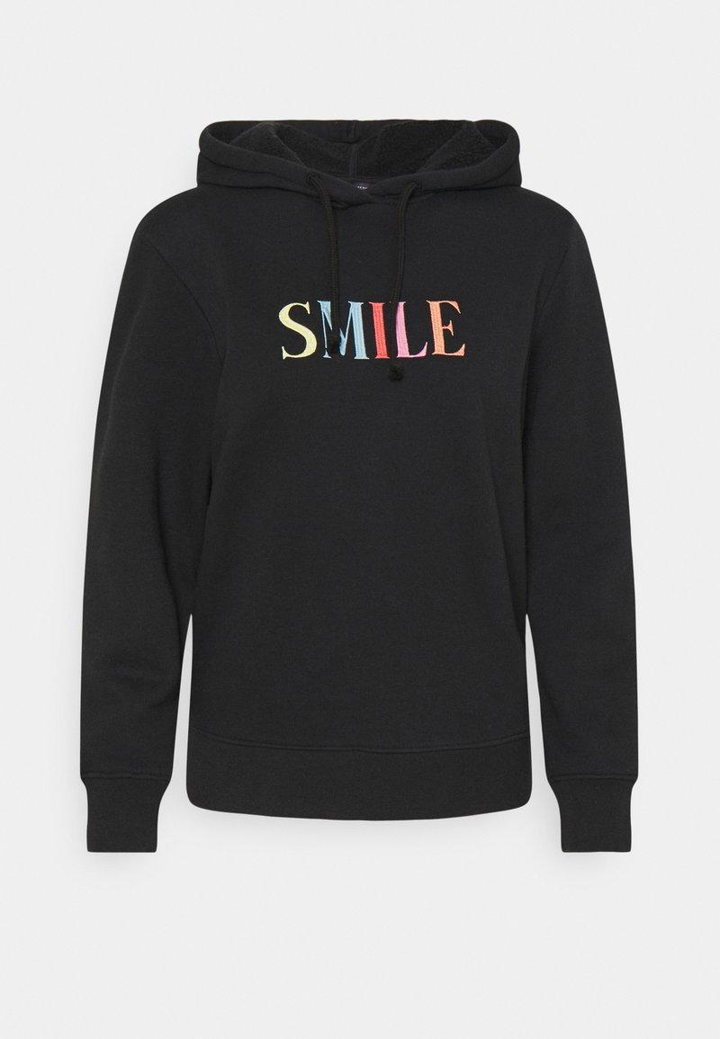 Marks & Spencer London - SMILE HOODY - Sweatshirt - black