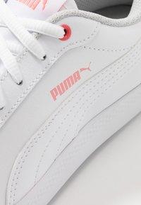 Puma - SMASH - Sneakers basse - white/salmon rose/gray violet - 2