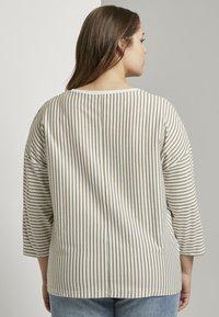MY TRUE ME TOM TAILOR - Long sleeved top - khaki ecru horizontal stripe - 2