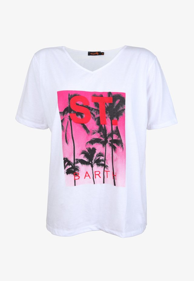 BARTH - T-shirt print - white