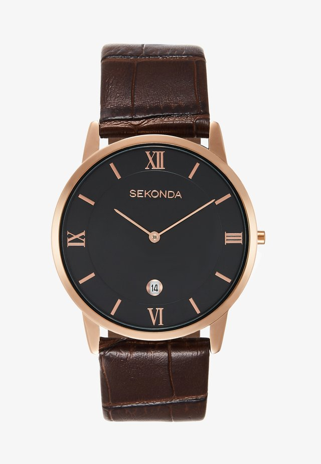 GENTS WATCH ROUND CASE - Rannekello - brown