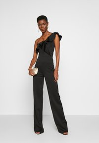 True Violet Tall - FRILL ONE SHOULDER - Tuta jumpsuit - black - 1