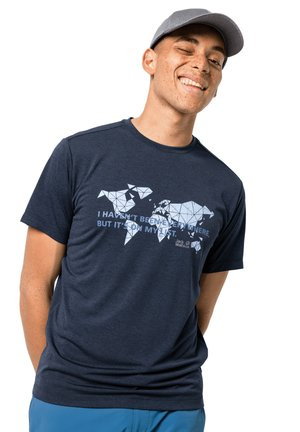 WORLD  - Print T-shirt - night blue