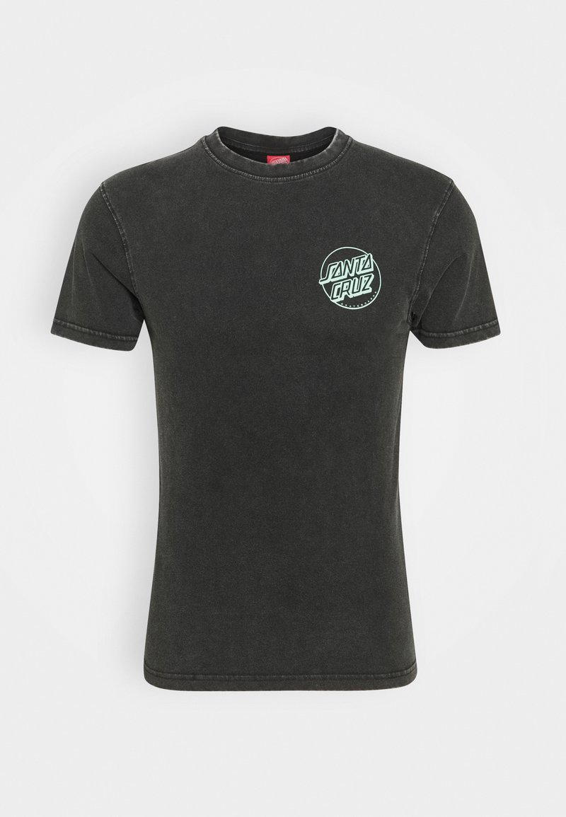 Santa Cruz - EXCLUSIVE PASTEL UNIVERSAL HAND UNISEX - Print T-shirt - black acid wash