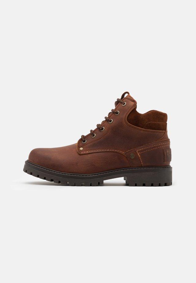 YUMA - Lace-up ankle boots - cognac