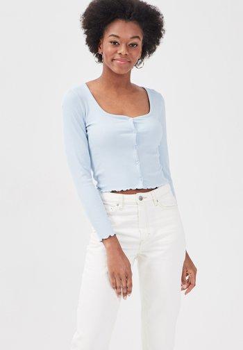 Cardigan - bleu pastel