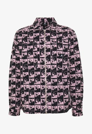 UNISEX SWEET ZIPPED OVERSHIRT - Džínová bunda - light pink