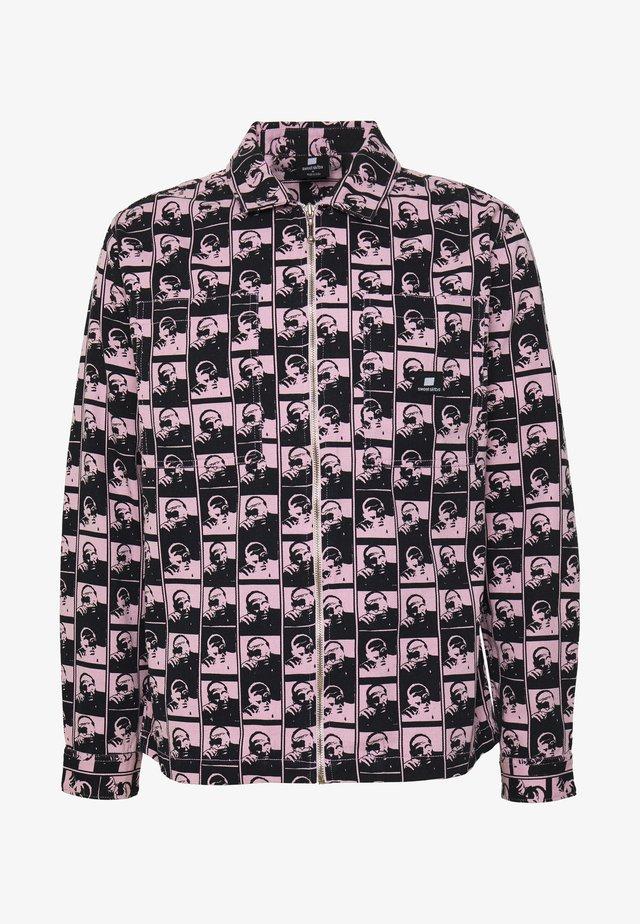UNISEX SWEET ZIPPED OVERSHIRT - Spijkerjas - light pink