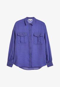 Next - Button-down blouse - blue-grey - 4