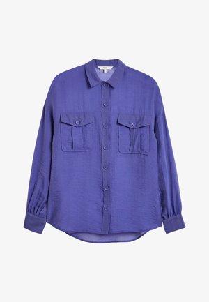 Button-down blouse - blue-grey
