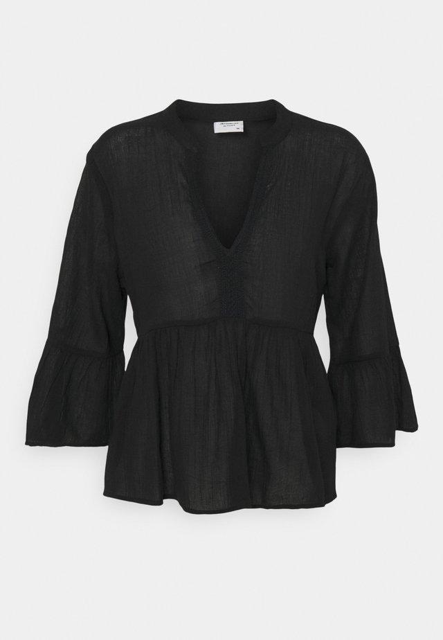 JDYAGNES LIFE BLOUSE - Langærmede T-shirts - black