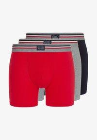 Jockey - COTTON STRETCH LONG LEG TRUNK 3 PACK - Boxerky - stone grey melange - 4