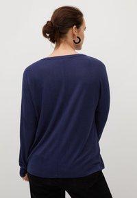 Violeta by Mango - KYOTO - Long sleeved top - bleu marine foncé - 2