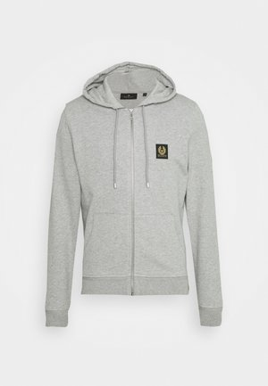 Zip-up hoodie - grey melange