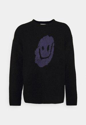 DIEGO DRIPPY FACE UNISEX - Stickad tröja - black