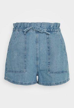 HAZEL PAPER BAG WAIST - Shorts - blue