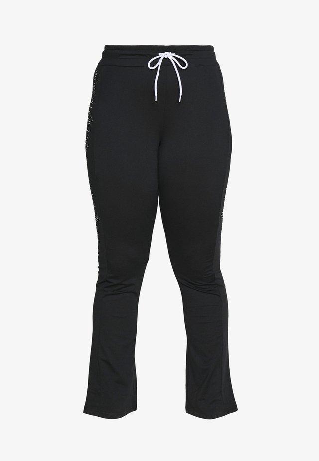 FIONA REGULAR CURVY - Spodnie treningowe - black/white