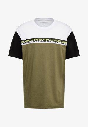 Print T-shirt - white/dark green