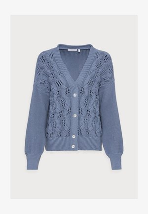 CARDIGAN CABLE - Vest - smoked blue