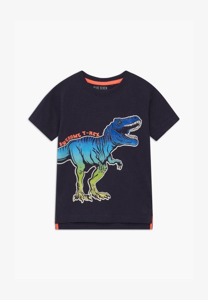 Blue Seven - SMALL BOYS T-REX DINOSAUR - T-shirt print - nachtblau