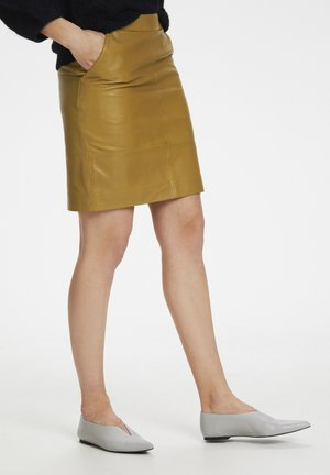 CHARGZ  - Pencil skirt - tapenade