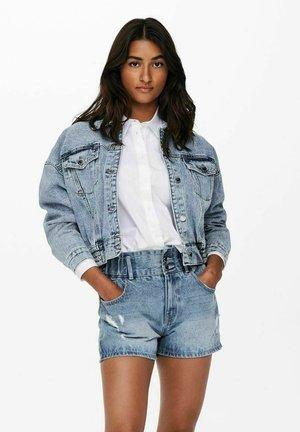 CROPPED - Giacca di jeans - light blue denim