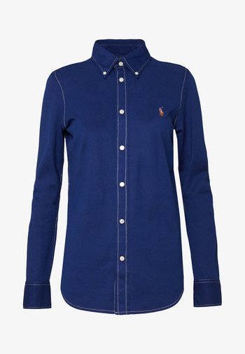HEIDI LONG SLEEVE - Button-down blouse - holiday navy