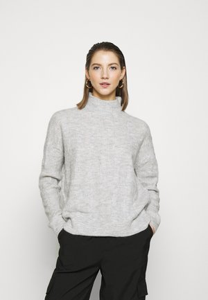 PCBECKY HIGH NECK CABLE  - Jersey de punto - light grey melange