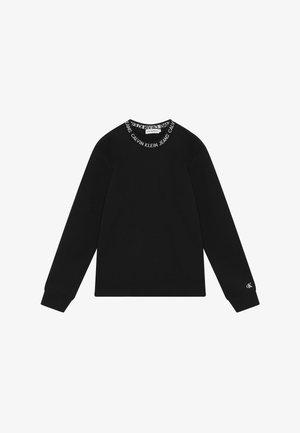 LOGO INTARSIA  - Sweater - black