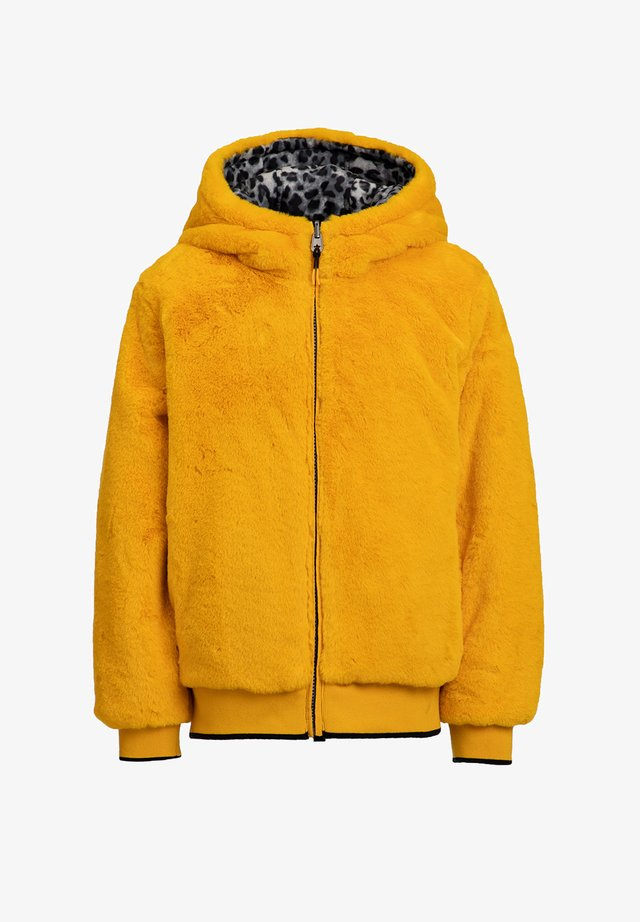 REVERSIBLE - Winter jacket - ochre yellow