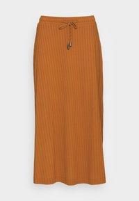 SKIRT - A-line skirt - caramel