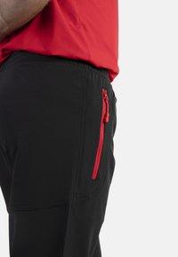 IZAS - CLOISTER - Pantalons outdoor - black/red - 4
