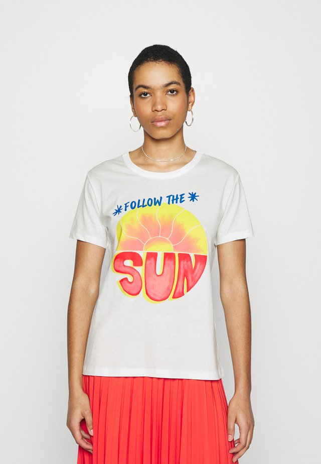 FOLLOW THE SUN  - T-shirt con stampa - off white