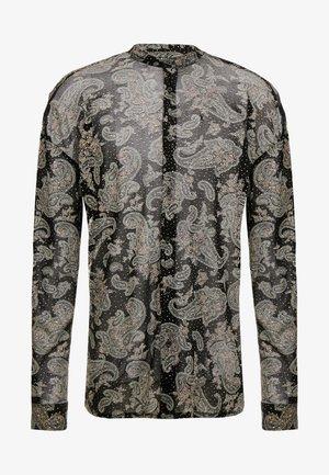 GLITTERY PAISLEY SHIRT - Shirt - black