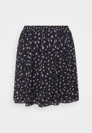 A-line skirt - black/lilac