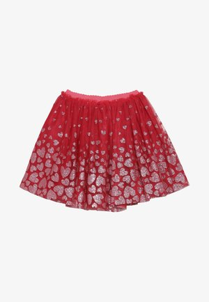 A-line skirt - cranberries