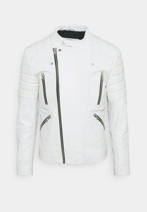 GLADIATOR - Kožená bunda - white