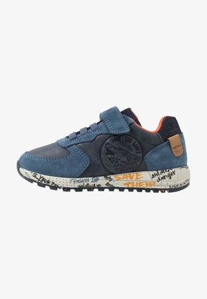 ALBEN BOY - Trainers - navy/orange