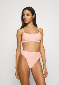 Seafolly - ESSENTIALS BRALETTE HIGH WAISTED PANT - Bikini bottoms - rose sands - 1