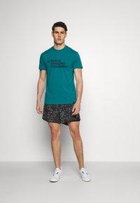 Black Diamond - STACKED LOGO TEE - Print T-shirt - teal - 1