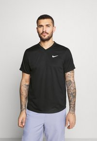 Nike Performance - T-shirt - bas - black/black/white - 0