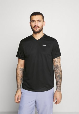 T-shirt print - black/black/white