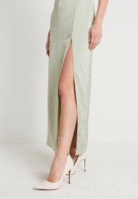 NA-KD - HIGH SLIT DRESS - Maxi dress - dusty green - 3