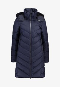 WHISTLER SLIM DOWN HOODED LONG - Kabát z prachového peří - sartho blue